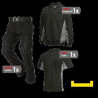 Kledingpakket Tricorp Zwart met Grijs ( Budget pakket)