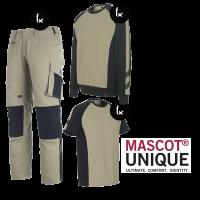Kledingpakket Mascot Unique Khaki met zwart ( Budget pakket)
