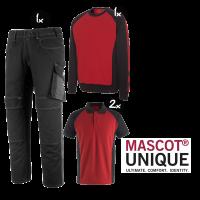 Kledingpakket Mascot Unique Rood met Zwart ( Basic pakket)
