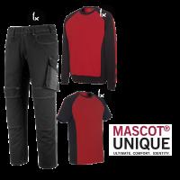 Kledingpakket Mascot Unique Rood met Zwart budget