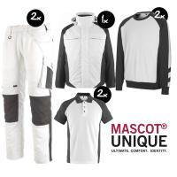 Kledingpakket Mascot Unique Wit met grijs ( Luxury pakket)