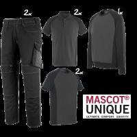 Kledingpakket Mascot Unique zwart met grijs ( Premium pakket)