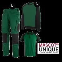 Kledingpakket Mascot Unique Groen met Zwart ( Basic pakket)