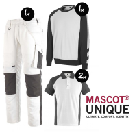Kledingpakket Mascot Unique Wit met grijs ( Basic pakket)