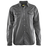 Overhemd Blaklader 3297 Twill lange mouw grijs