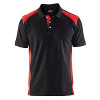 Poloshirt Blaklader 3324 zwart met rood