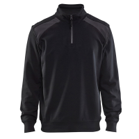Sweater Blaklader 3353 polokraag zwart-donker grijs