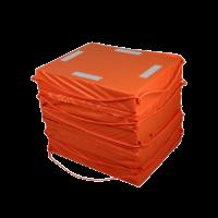 Reddingsvlot binnenwater NSI goedgekeurd met grijplijnen Oranje