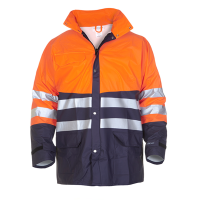 Regenparka Hydrowear Vernon fluor oranje met navy
