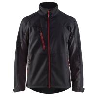 Softshell jas Blaklader 4950 zwart met rood nieuw