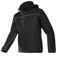 Softshell jas Sioen 9932 Homes 3-laags | Zwart