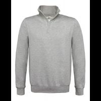 Sweater B&C WUI22 met Korte Rits | Grijs Melee