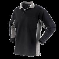 Polo sweater Workman Bi-colour zonder boord | zwart / grijs