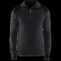 Sweater Blaklader 4630 wol met ritskraag en boord grijs met zwart