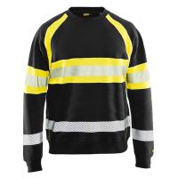 Sweater Blaklader 3359 met reflectie zwart met geel ( nieuw)