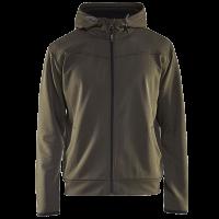 Sweatjack Blaklader 3363 hooded met rits groen met zwart