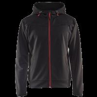 Sweatjack Blaklader 3363 hooded met rits zwart met rood