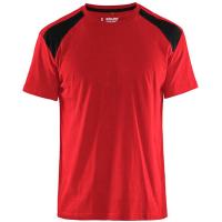 T-shirt Blaklader 3379 rood met zwart