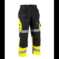Werkbroek Blaklader HIGH VIS X1508  zwart - fluor geel