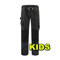 Kinder werkbroek Tricorp TWC2000 canvas donker grijs/zwart