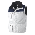 Bodywarmer Workman multipocket bi-colour wit met blauw