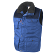 Bodywarmer Workman multipocket bi-colour korenblauw met navy
