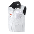 Bodywarmer Workman Luxe multipocket wit