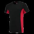 T-shirt Tricorp 102002 TT2000 zwart/rood