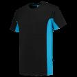 T-shirt Tricorp 102002 TT2000 zwart/turguoise