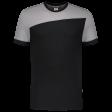 Tshirt Tricorp 102006 schuine naad zwart - grijs