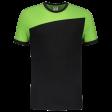 Tshirt Tricorp 102006 schuine naad zwart - lime