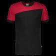 Tshirt Tricorp 102006 schuine naad zwart - rood