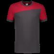 Tshirt Tricorp 102006 schuine naad grijs - rood