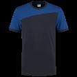 Tshirt Tricorp 102006 schuine naad navy - korenblauw