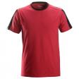 T-shirt Snickers 2518 Allround Work 160gr/m2 rood-zwart