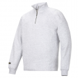 Sweater Snickers 2813 multipockets ritskraag grijs
