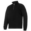 Sweater Snickers 2813 multipockets ritskraag zwart