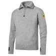 Sweater Snickers 2905 wol met ritskraag - grijs