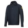 Sweater Snickers 2905 wol met ritskraag navy