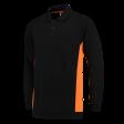 Polosweater Tricorp 302001 zwart met oranje