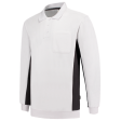 Polosweater Tricorp 302001 wit met donker grijs