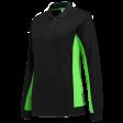 Dames polosweater Tricorp 302002 Bi-colour zwart met lime
