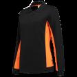 Dames polosweater Tricorp 302002 Bi-colour zwart/oranje