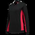 Dames polosweater Tricorp 302002 Bi-colour zwart met rood