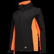 Dames softshell jas Tricorp 402008 zwart met oranje