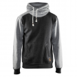 Hooded sweater Blaklader 3399 bi-colour zwart met grijs