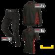Kledingpakket Tricorp Zwart met rood ( Basic pakket)