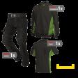 Kledingpakket Tricorp Zwart met lime groen ( Budget pakket)