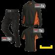 Kledingpakket Tricorp Zwart met oranje ( Budget pakket)