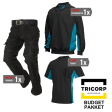 Kledingpakket Tricorp Zwart met turquoise ( Budget pakket)